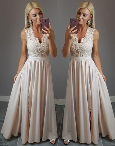 Pd90122 Charming Prom Dress,Chiffon Evening Dresses,A-Line Prom Dresses,Appliques Prom Gown