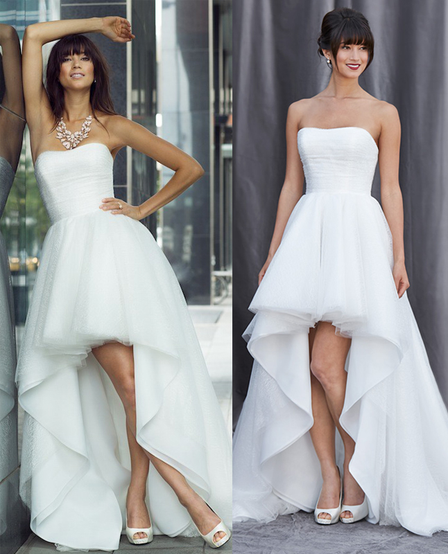 Wd230 romantic wedding dress high low wedding dress tulle for Tulle high low wedding dress