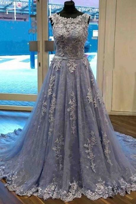 Pd70810 Charming Prom Dress,Appliques Prom Dress,A-Line Prom Dress,Tulle Evening Dress