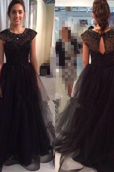 Pd70506 Charming Prom Dress,Beading Prom Dress,Tulle Prom Dress,A-Line Evening Dress