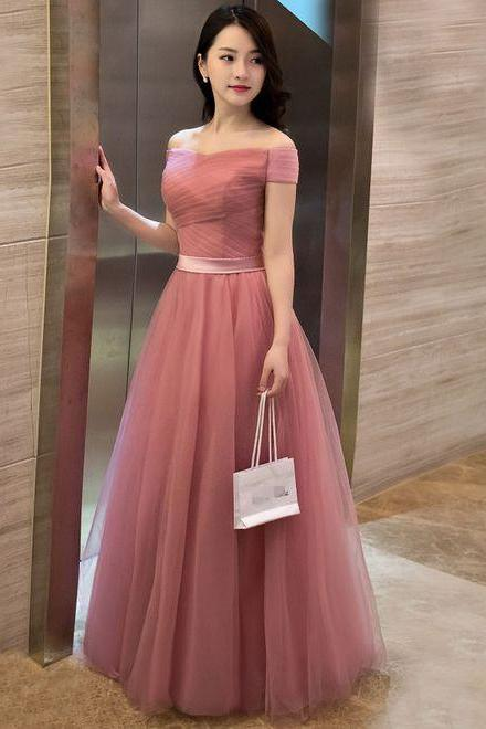 Pd70906 Charming Prom Dress,Tulle Prom Dress, Off the Shoulder Prom Dress,A-Line Evening Dress