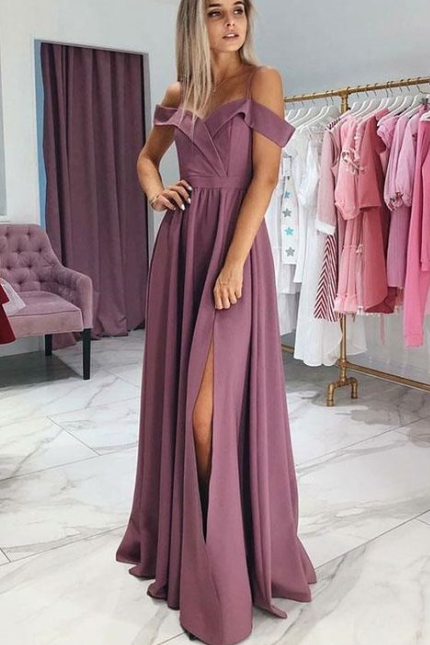 Pd81117 Charming Prom Dress,Chiffon Evening Dresses,A-Line Prom Dresses,Off the Shoulder Prom Gown