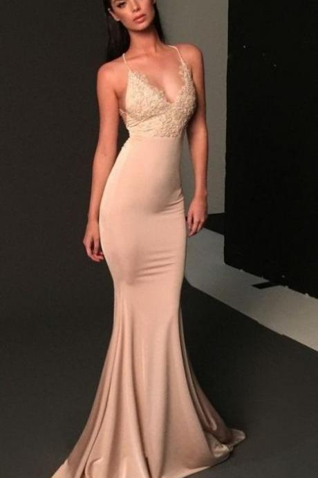 Pd81130 Charming Prom Dress,Satin Evening Dresses,Mermaid Prom Dresses,Appliques Prom Gown