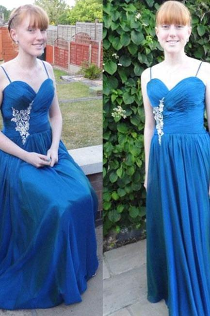 Pd10233 Charming Prom Dress,Chiffon Prom Dress,A-Line Prom Dress,Sweetheart Prom Dress,Appliques Prom Dress