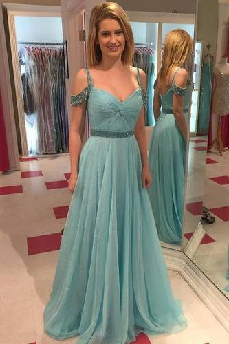 Pd603231 Charming Prom Dress,Spaghetti Strap Prom Dress,Sequined Prom Dress,Chiffon Prom Dress,A-Line Evening Dress