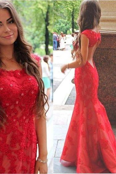 Pd606071 High Quality Prom Dress,Lace Prom Dress,Backless Prom Dress,Mermaid Prom Dress, Charming Evening Dress