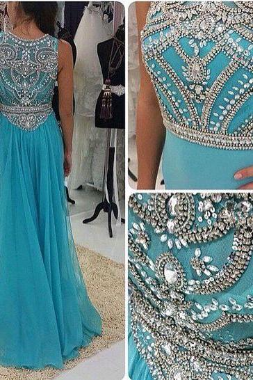 Pd606135 Charming Prom Dress,Chiffon Prom Dress,Beading Prom Dress,O-Neck Prom Dress,Beauty Evening Dress