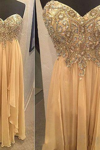 Pd60916 Charming Prom Dress,Beading Prom Dress,Sweetheart Prom Dress,Chiffon prom Dress,A-Line Evening Dress
