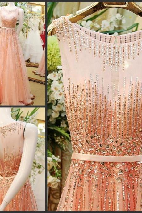 Pd60931 Charming Prom Dress,Tulle Prom Dress,Beading Prom Dress,A-Line Evening Dress