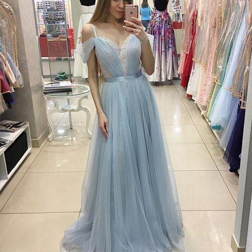 Pd70602 Charming Prom Dress,Tulle Prom Dress,A-Line Prom Dress,Spaghetti Straps Evening Dress