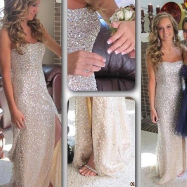 Pd323 Beading Prom Dress,Charming Prom Dress,Strapless Prom Dress,Sexy Prom Dress
