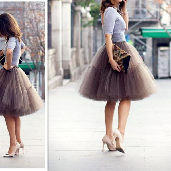 S-6 2015 Fashion Skirt,Tulle Skirt,Charming Women Skirt,spring Autumn Skirt