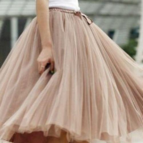 S-3 Fashion Street Style Skirt,Tulle Skirt,Charming Women Skirt,spring Autumn Skirt ,A-Line Skirt