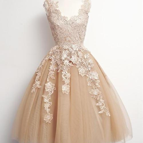 Bd07211 Charming Homecoming Dress,Appliques Homecoming Dress,Tulle Homecoming Dress, Noble Short Prom Dress