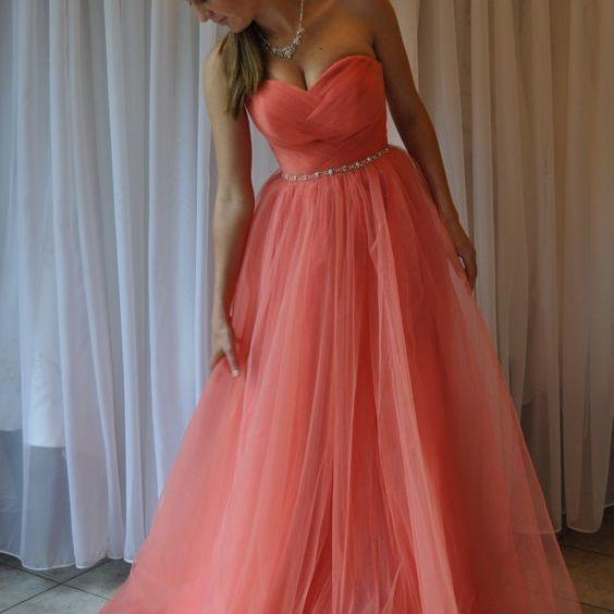 Pd606101 Charming Prom Dress,Tulle Prom Dress,Pleat Prom Dress,Sweetheart Prom Dress,Beauty Evening Dress