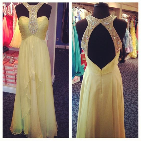 Pd61040 Charming Prom Dress,A-Line Prom Dress,Chiffon Prom Dress,Beading Evening Dress