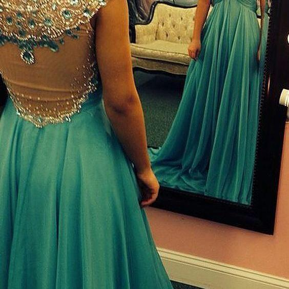 Pd61041 Charming Prom Dress,Beading Prom Dress,Chiffon Prom Dress,Scoop Evening Dress